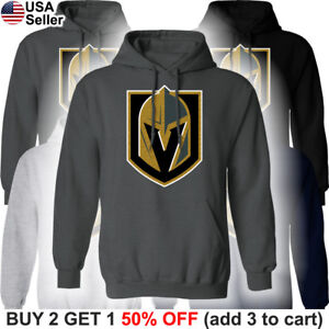 03fabc2f653 Image is loading Las-Vegas-Golden-Knights-Hooded-Sweatshirt-Logo-Sweater-