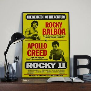 Rocky-2-Stallone-Boxing-Movie-Film-Poster-Print-Picture-A3-A4-Boxing-Posters
