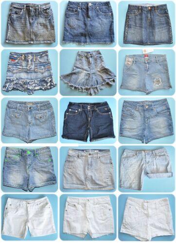 Girl/'s Denim//Jean Bottoms--Skirt//Skort//Shorts--Size 10//12//14 UPICK JUSTICE