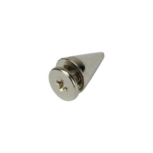 1000pcs 10mm Silver Spots Cone Screw Metal Studs Leathercraft Rivet Bullet Spike