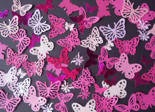 Crafts Weddings PINKS 100 Decorative butterflies 3 pack choices card making