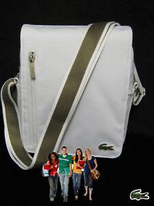 LACOSTE-MESSENGER-Shoulder-Bag-Casual-2-4-White-fawn-strap