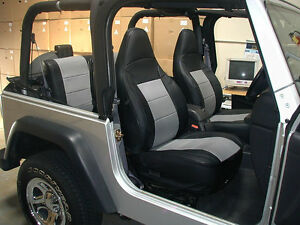 Swell Jeep Wrangler Tj Sahara 1997 2002 Black Grey Iggee S Leather Gamerscity Chair Design For Home Gamerscityorg