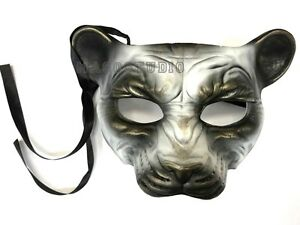 Details about Kids Anime Masquerade Leopard Lion mask costume Halloween  Costume Party