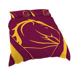 OUT-Brisbane-Broncos-NRL-DOUBLE-Bed-Quilt-Doona-Duvet-Cover-Set-NEW-2018-GIFT