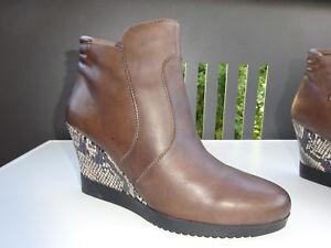 Details zu TAMARIS Original Damen Schuhe Keilabsatz Stiefeletten Leder Germany Gr.36 f.Neuw