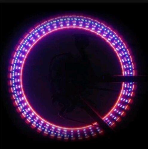 2 X RAINBOW BICYCLE BIKE CYCLING NIGHT LIGHTS 4 CARS TOO VALVE STEM RIM CAPS W@W