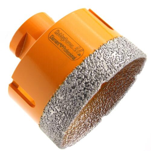 Diamantbohrer M14 Bohrkrone Fliesenbohrer Ø 60mm Trockenbohrer Granit Fliesen