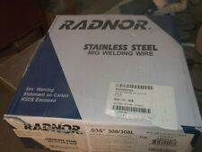 """Radnor Stainless Steel Mig Welding Wire Plastic Spool Coiled Wire .035/"""" 316L 640"""