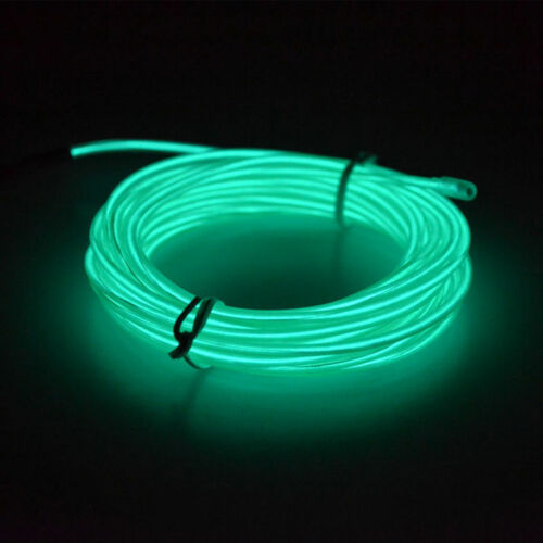 Neon LED Light Glow EL Wire String Strip Rope Tube Decor Car Party+Controller vv