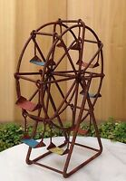 Miniature Dollhouse Fairy Garden Furniture Rustic Rusty Metal Ferris Wheel