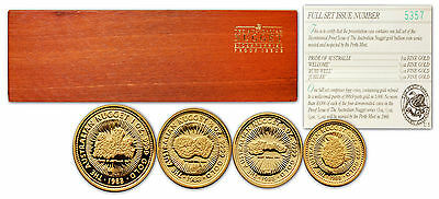 Australia 1988 Nugget 4 coins Gold Proof Set