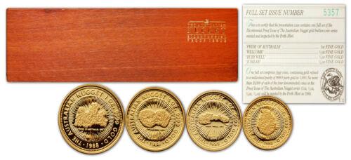 Australia 1988 Nugget 4 coins Gold Proof Set