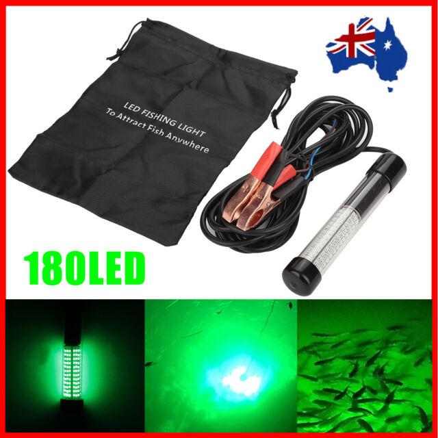 Portable 12V 180 LED Fishing Light Underwater Submersible Boat Night Lamp AU