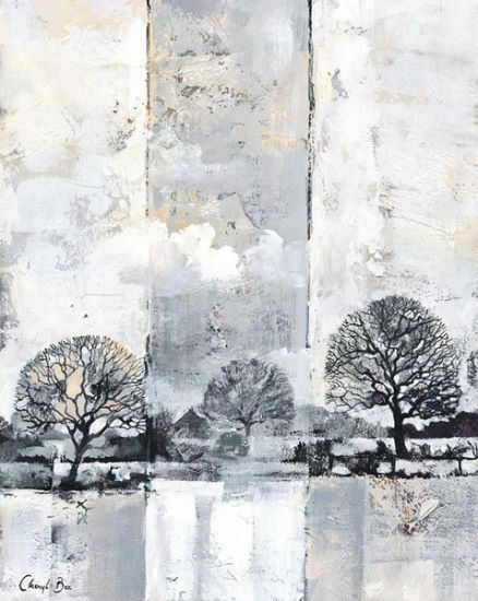 Cheryl Maya L'Abeille   Rivière Paysage II Tableau Prêt 50x70 Mural Rivage Sapin
