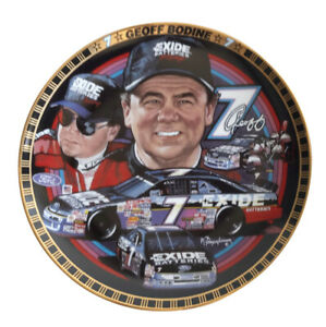 Geoff-Bodine-7-Exide-5-034-X-6-034-NASCAR-Collector-Plate-1995-Sports-Expressions