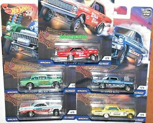 Dragstrip-Demons-Set-of-5-Cars-Hot-Wheels-2018-Car-Culture