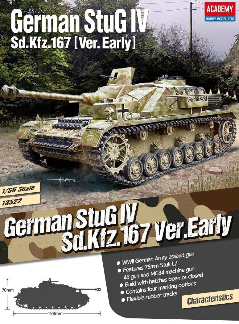 Academy 13522 Tyska Sd.Kfz.167 StuG IV Early Version 1  35 modelllllerlerl Kit