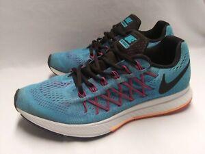 Nike-Mens-11-M-Air-Zoom-Pegasus-32-Blue-Orange-Black-Running-Athletic-Shoes