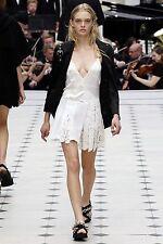 75% OFF: Burberry Prorsum SS16 £1995 Ivory Silk/Lace/Mesh Dress NWT IT36/UK6