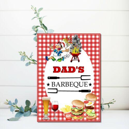 Personnalisé BARBECUE PARTY SIGNE BBQ jardin parties