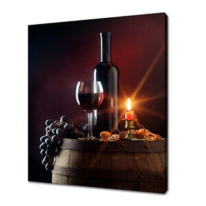 Details about RED WINE CANDLE GRAPES CANVAS PRINT PICTURE WALL ART FREE  FAST DELIVERY