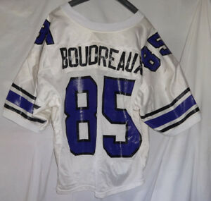 uk availability 9be8d 43342 Details about Vintage Northwestern Wildcats FRANK BOUDREAUX Game Used Worn  Football Jersey
