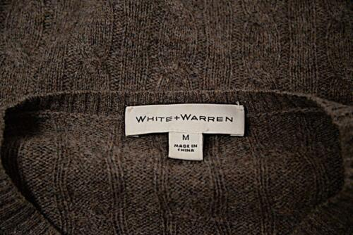 Cable White 100 met M Sweater Mushroom Sz Great knopen Cashmere Warren SIqFxPa