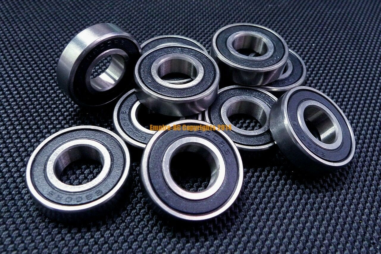 "5pcs FR3-2RS Flanged Metal Rubber Sealed Ball Bearing 3//16/"" x 1//2/"" x 0.1960/"""