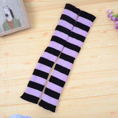 Leg Warmers Over The Knee Stripe Color Matching Socks Latin Ballet Leg Protector
