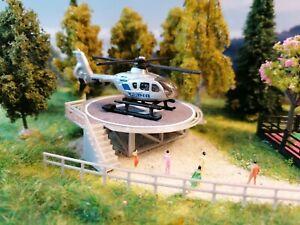Hubschrauber Polizei   Helicopter mit Landeplatz   Spur N   1:160