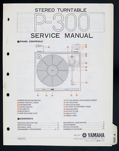 yamaha p 300 original stereo turntable turntable service manual image is loading yamaha p 300 original stereo turntable turntable service