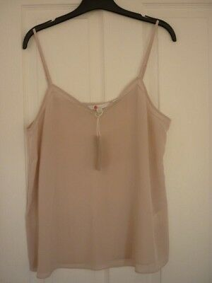 BODEN SILK CAMI CAMISOLE in CHALKY ROSE PINK BNWT W0017 US 14 UK 18 EUR 44-46