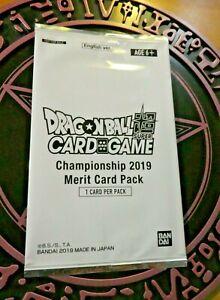 DRAGON-BALL-Z-SUPER-DBZ-DBS-MERIT-CARD-GAME-CARTE-PACK-CHAMPIONSHIP-2019-JAPAN-M