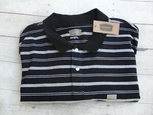Men 39 s the foundry supply co sueded striped polo shirt for Foundry men s polo shirts