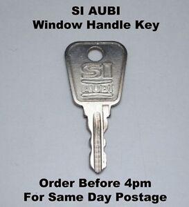 1 x si aubi upvc window handle key free postage ebay. Black Bedroom Furniture Sets. Home Design Ideas