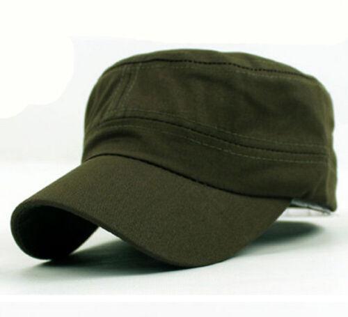 New Classic Plain Vintage Militaire Armée Cadet Style Coton Casquette Réglable