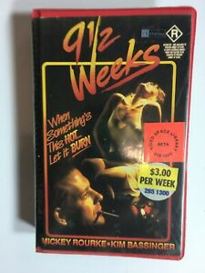 Rare-80s-R-Rated-9-1-2-Weeks-Roadshow-Home-Video-Ex-Rental-BETA-not-VHS-Sex-Movi