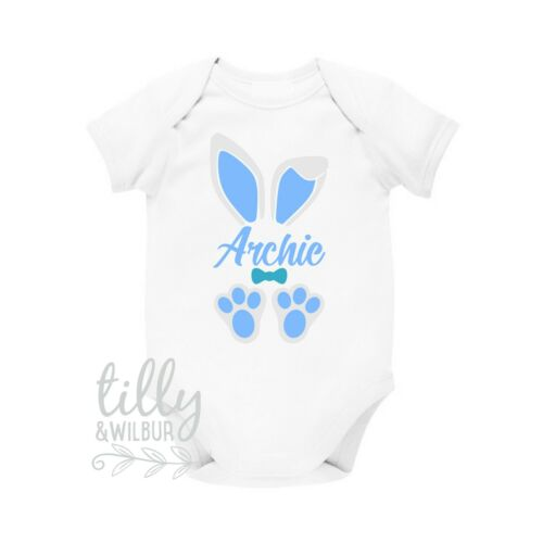 Personalised 1st Easter Baby Bodysuit First Easter Bunny Ears And Feet Baby