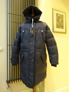 Designer-Diesel-Blue-Grey-Padded-Down-Jacket-Coat-Women-039-s-Size-L-M-New-With-Tag