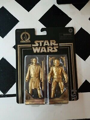 Star Wars DARTH MAUL and YODA GOLD COMMEMORATIVE EDITION SKYWALKER SAGA New