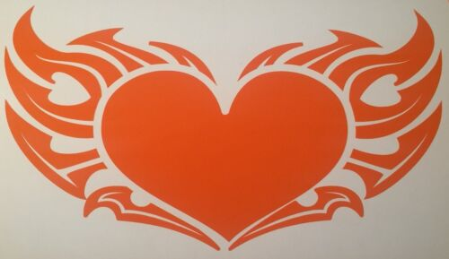 """12/"""" LARGE 2 Flame Hearts Vinyl Decal Sticker 12 Colors  For Trucks Cars."""