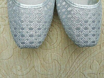 Silver Net Damas Indio Boda Fiesta Khussa tamaño del zapato 5