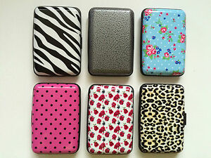 Patterned hard card case business card bus pass credit card holder patterned hard card case business card bus pass reheart Image collections