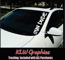 SUH DUDE Windshield Banner  JDM Honda Acura Low Car Decal sticker 1500 2500