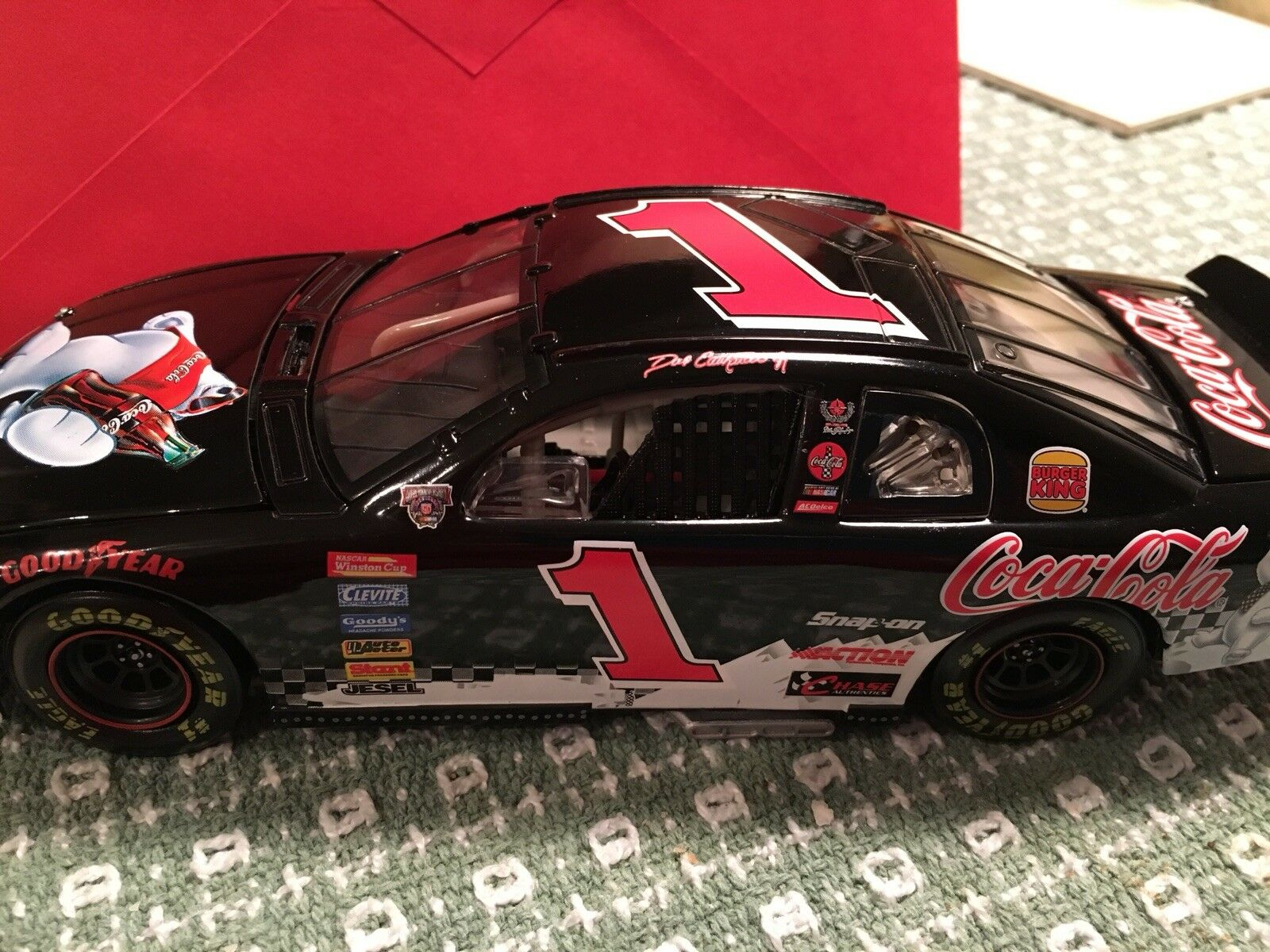 Dale Earnhardt Coca Cola Polar Bear Monte Carlo Car