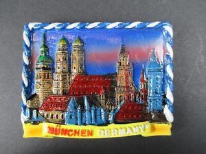 Magnet-Muenchen-Tuerme-Munich-Poly-Relief-7-cm-Germany-Souvenir-NEU