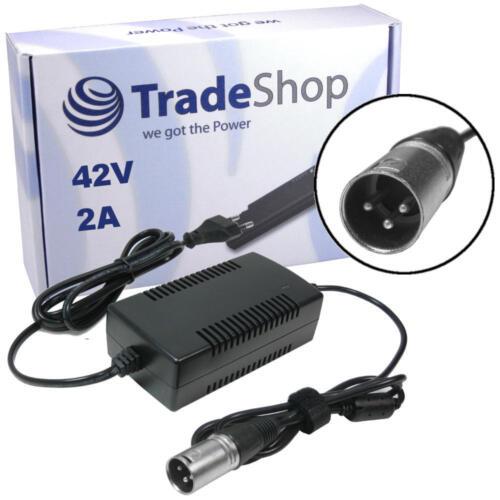 Netzteil Ladegerät Ladekabel 42V 2A 3pin XLR für 36V Akkus ersetzt HP1202L3