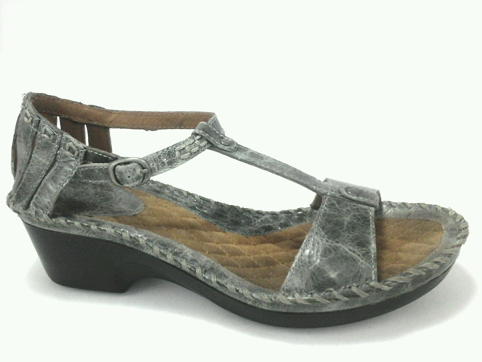 ARIAT strappy sandals green leather t- strap Donna shoes US 11 M  EUR 42.5  95