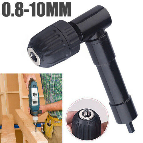 Right Angle Bend Extension 90° Cordless Drill Attachment Adapter Tool Black ST